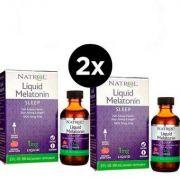 2X Melatonina Liquida 1mg - (60 ml) -Natrol