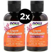 2X Melatoninas Liquida 3mg (60 ml) - Now Foods