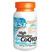 CoQ10 (Coenzima Q10) 100 mg com BioPerine - Doctor's BEST - 120 Cápsulas vegetarianas