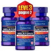 Leve 3 Pague 2 - Melatonina Dissolução Rápida Puritan's Pride 10mg, 90 comprimidos Sabor Morango