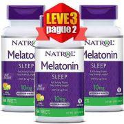 Melatonina 10mg Fast Dissolve (Dissolve na boca) - Natrol - 60 comprimidos ( Leve 3 Pague 2 )