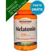 Melatonina, 300mcg, Sundown Naturals, 120 comprimidos vegetarianas