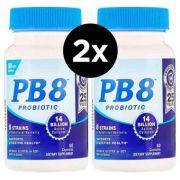Probiótico PB8, Nutrition Now, com 120 capsulas - 2 Frascos Total De 240 Cápsulas