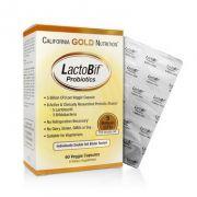 Probióticos LactoBif - California Gold Nutrition, 5 bilhões de CFU, 60 cápsulas