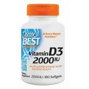 Vitamin D3, Doctor Best, 2.000 IU, 180 capsulas