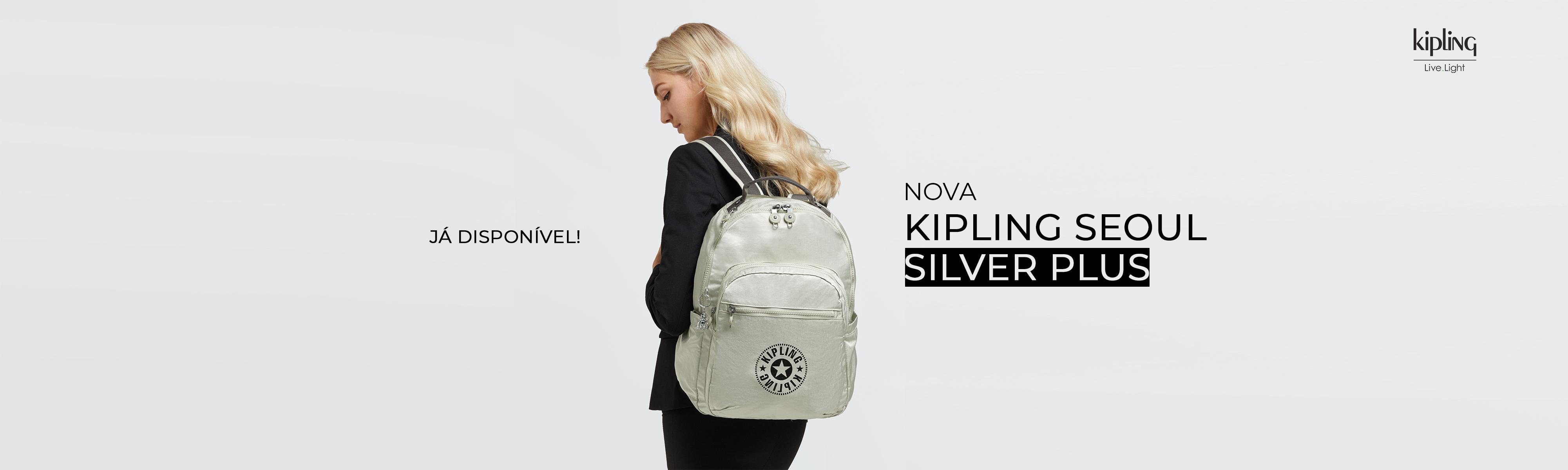 Mochila Kipling Seoul Silver Plus