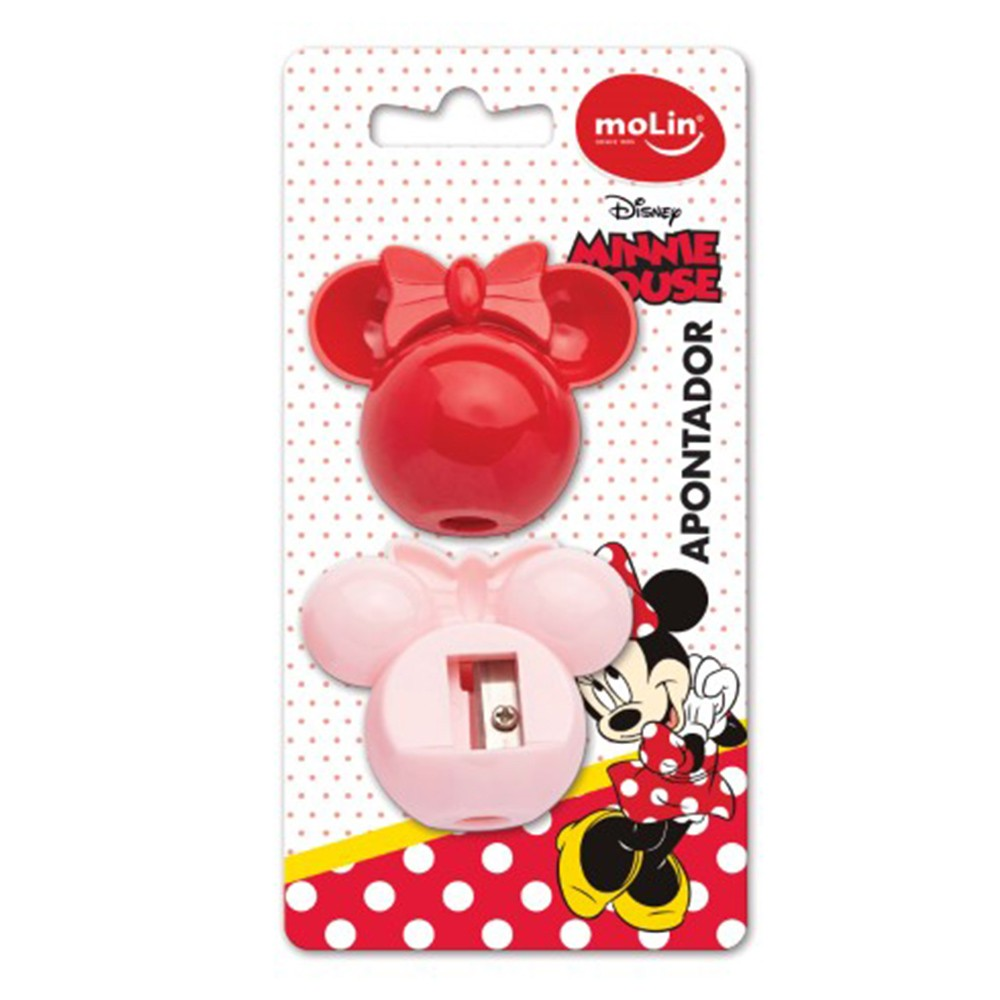 Apontador Molin Face Minnie Blister C/ 2
