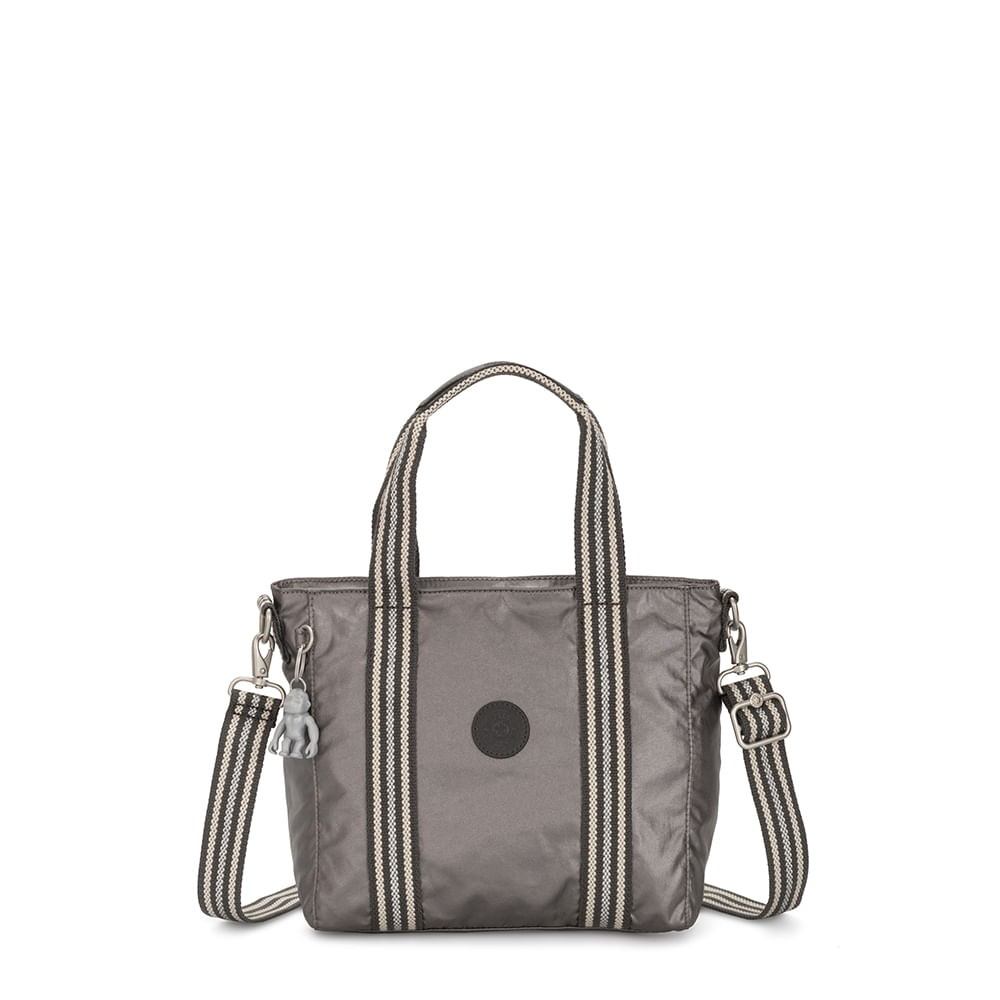 Bolsa Kipling Asseni Mini Carbon Metallic