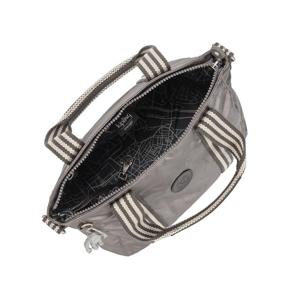 Bolsa Kipling Asseni Mini Carbon Metallic