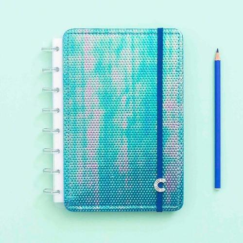 Caderno Inteligente A5 Sereiando Azul Holográfico
