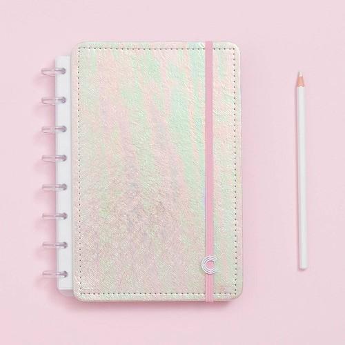 Caderno Inteligente A5 Sereiando Rosa Holográfico