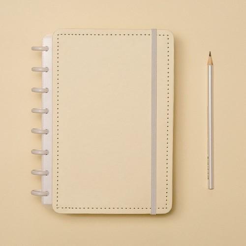 Caderno Inteligente A5 Tons Pastel Amarelo