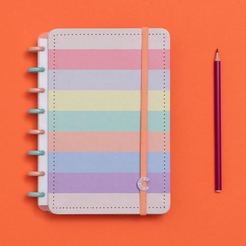 Caderno Inteligente A5 Tons Pastel Arco-íris