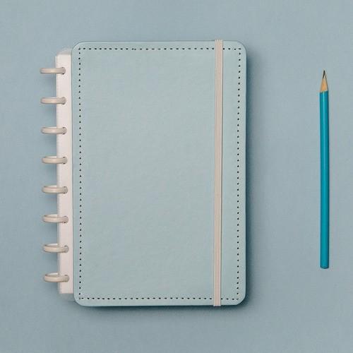 Caderno Inteligente A5 Tons Pastel Azul