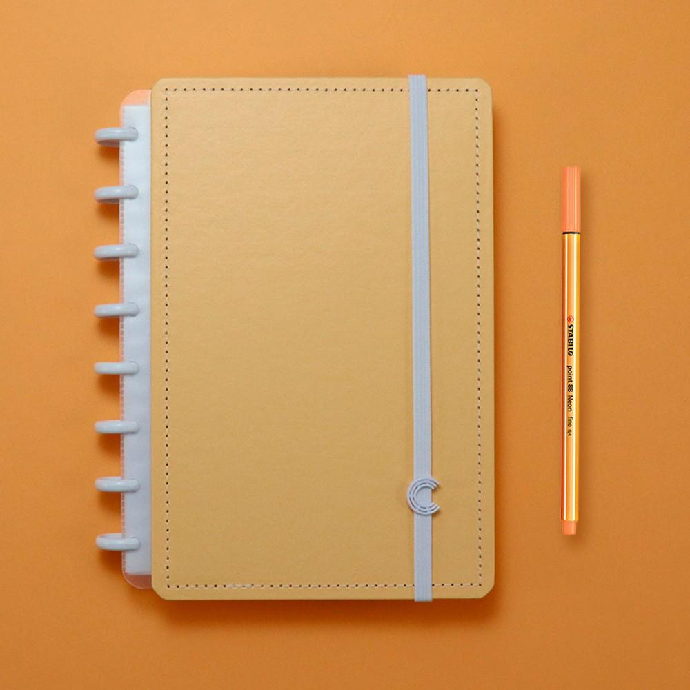 Caderno Inteligente A5 Tons Pastel Laranja