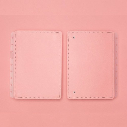 Caderno Inteligente Capa E Contracapa Médio Rose Pastel