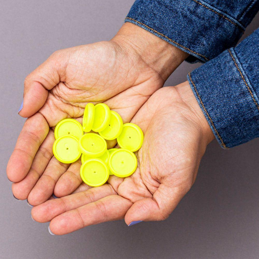Caderno Inteligente Discos M Amarelo Neon