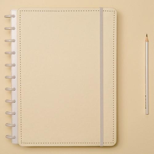 Caderno Inteligente Grande Amarelo Pastel