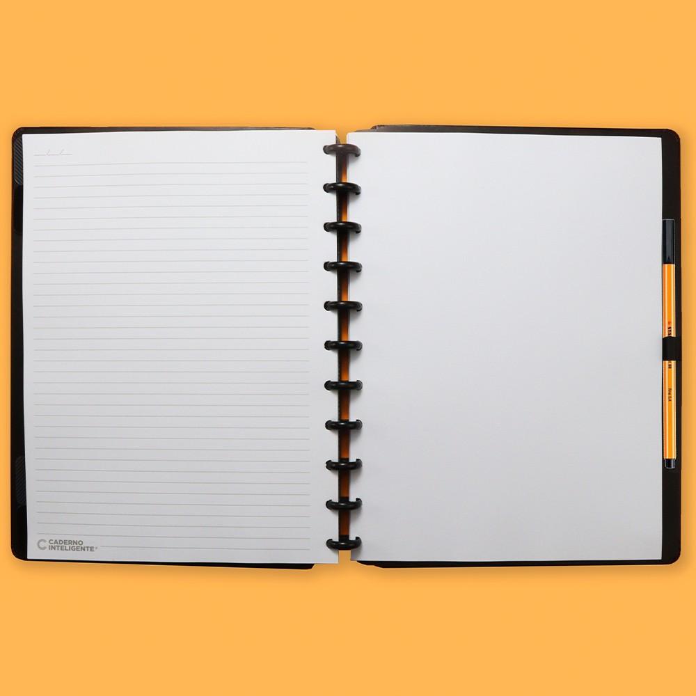 Caderno Inteligente Grande Casual Basic Black