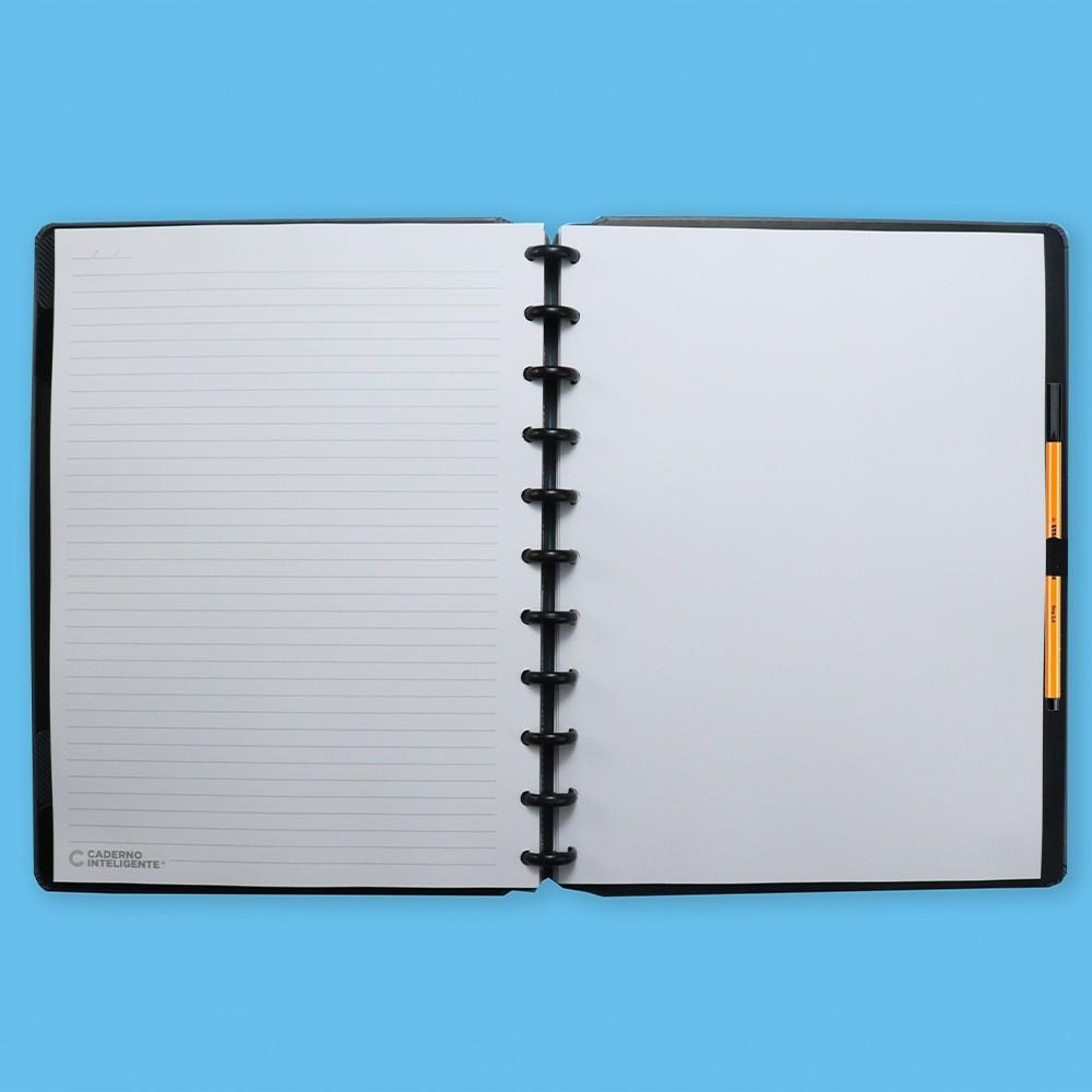 Caderno Inteligente Grande Casual Basic Grey