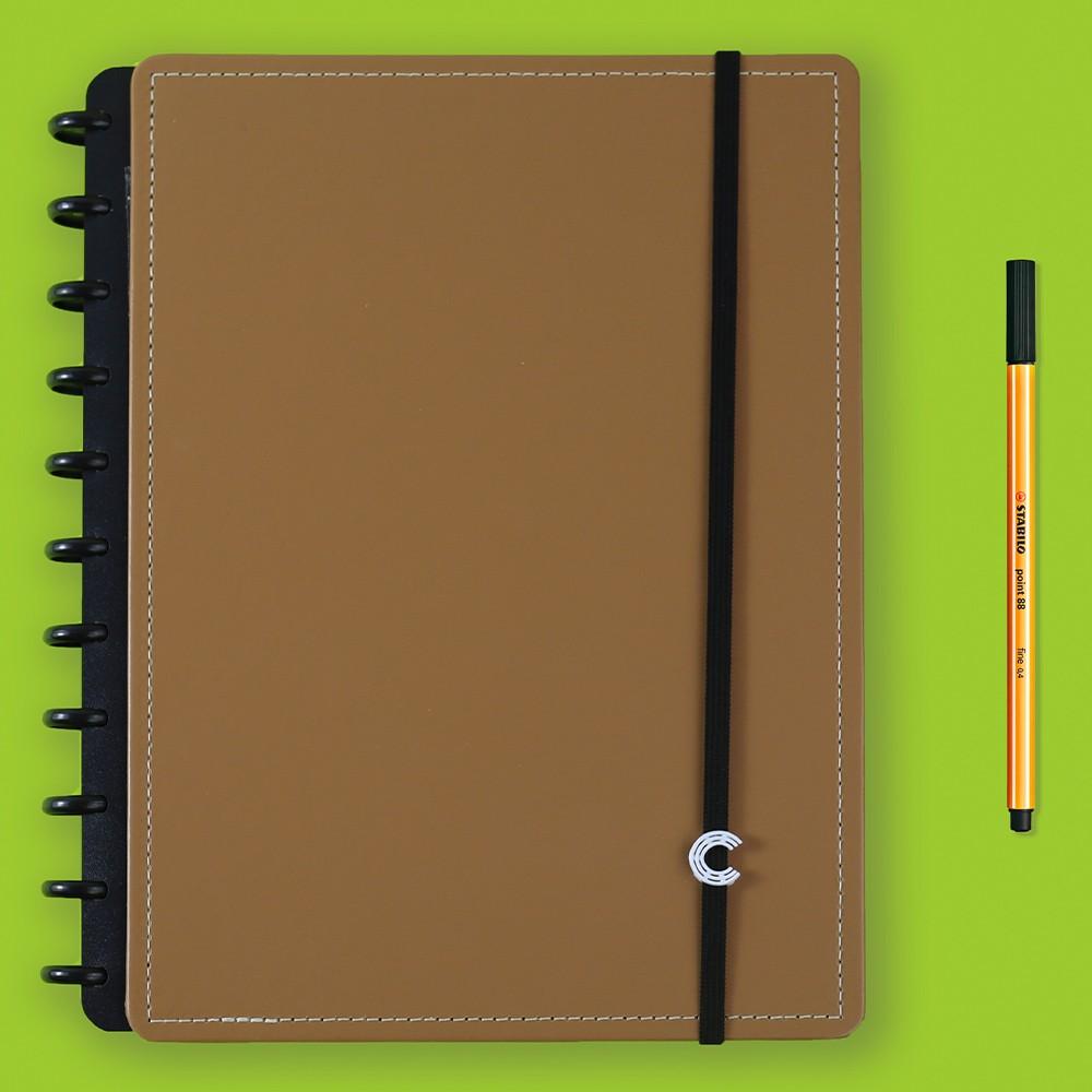 Caderno Inteligente Grande Casual Caramel