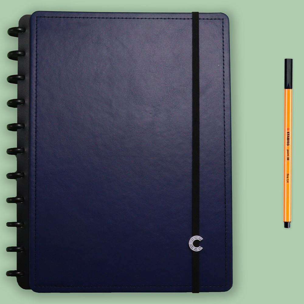 Caderno Inteligente Grande Casual Dark Blue