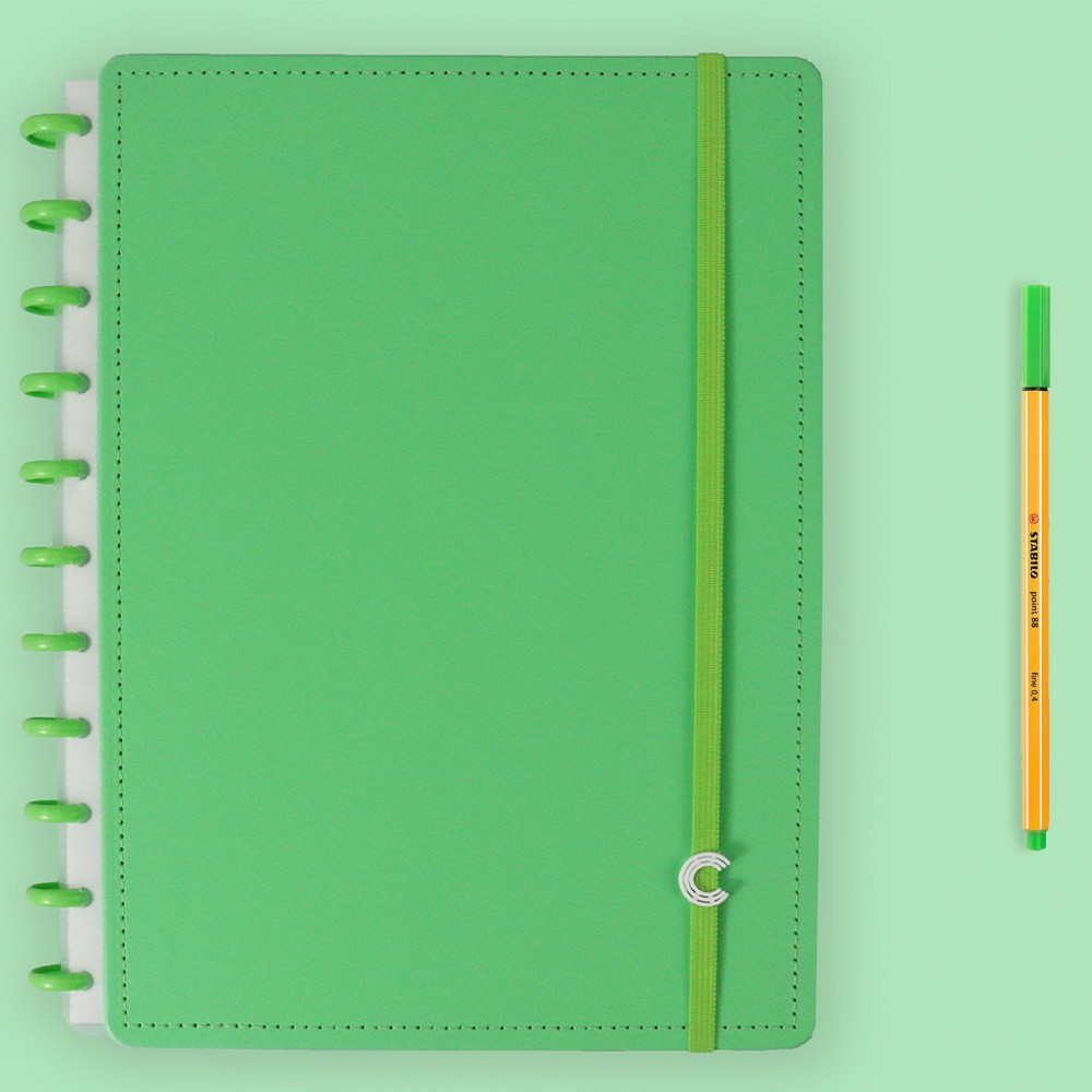 Caderno Inteligente Grande Color All Green