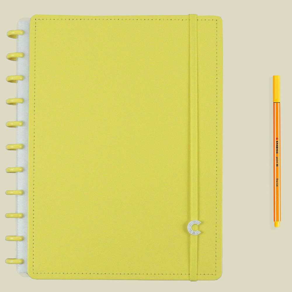 Caderno Inteligente Grande Color All Yellow