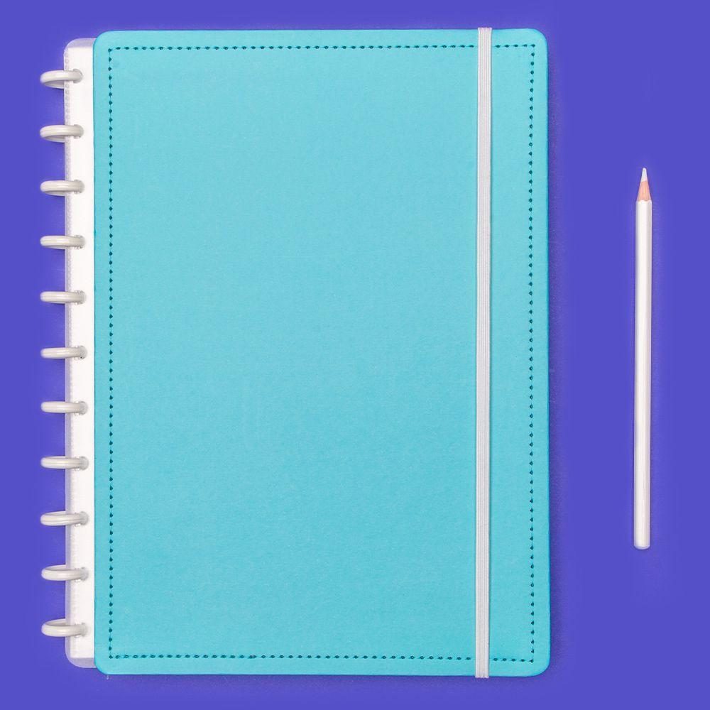 Caderno Inteligente Grande Color Azul Celeste