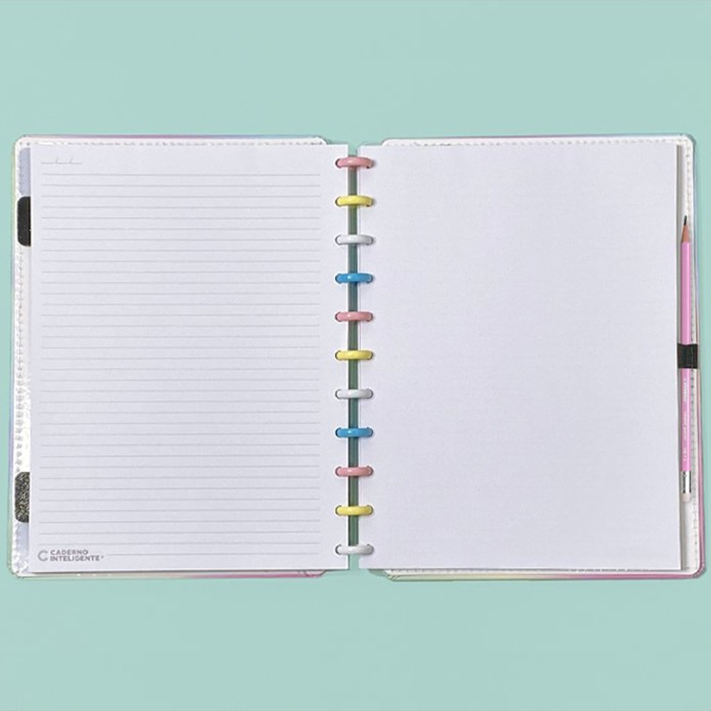 Caderno Inteligente Grande Color Candy Splash