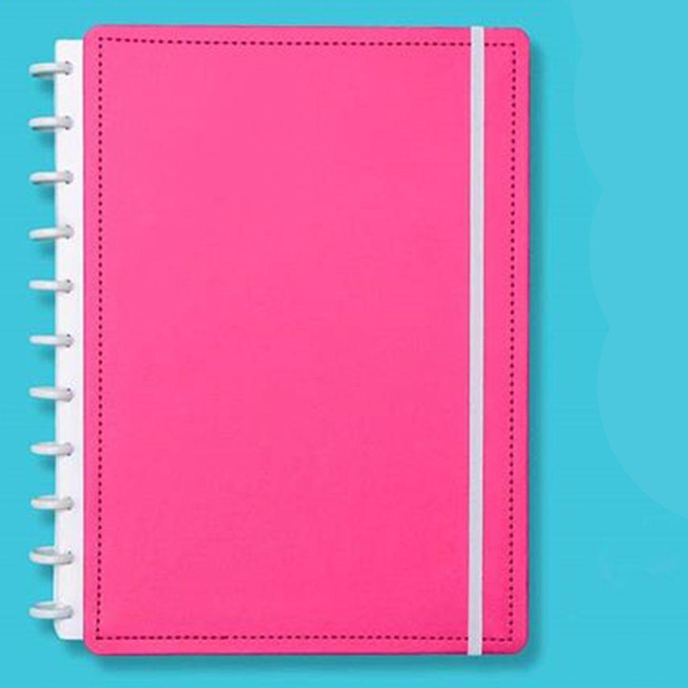 Caderno Inteligente Grande Color Rosa Choque