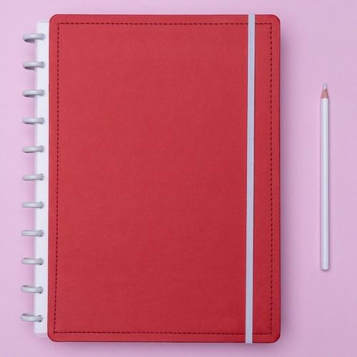 Caderno Inteligente Grande Color Vermelho Cereja