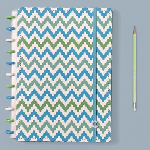 Caderno Inteligente Grande Estampa Mania Waves