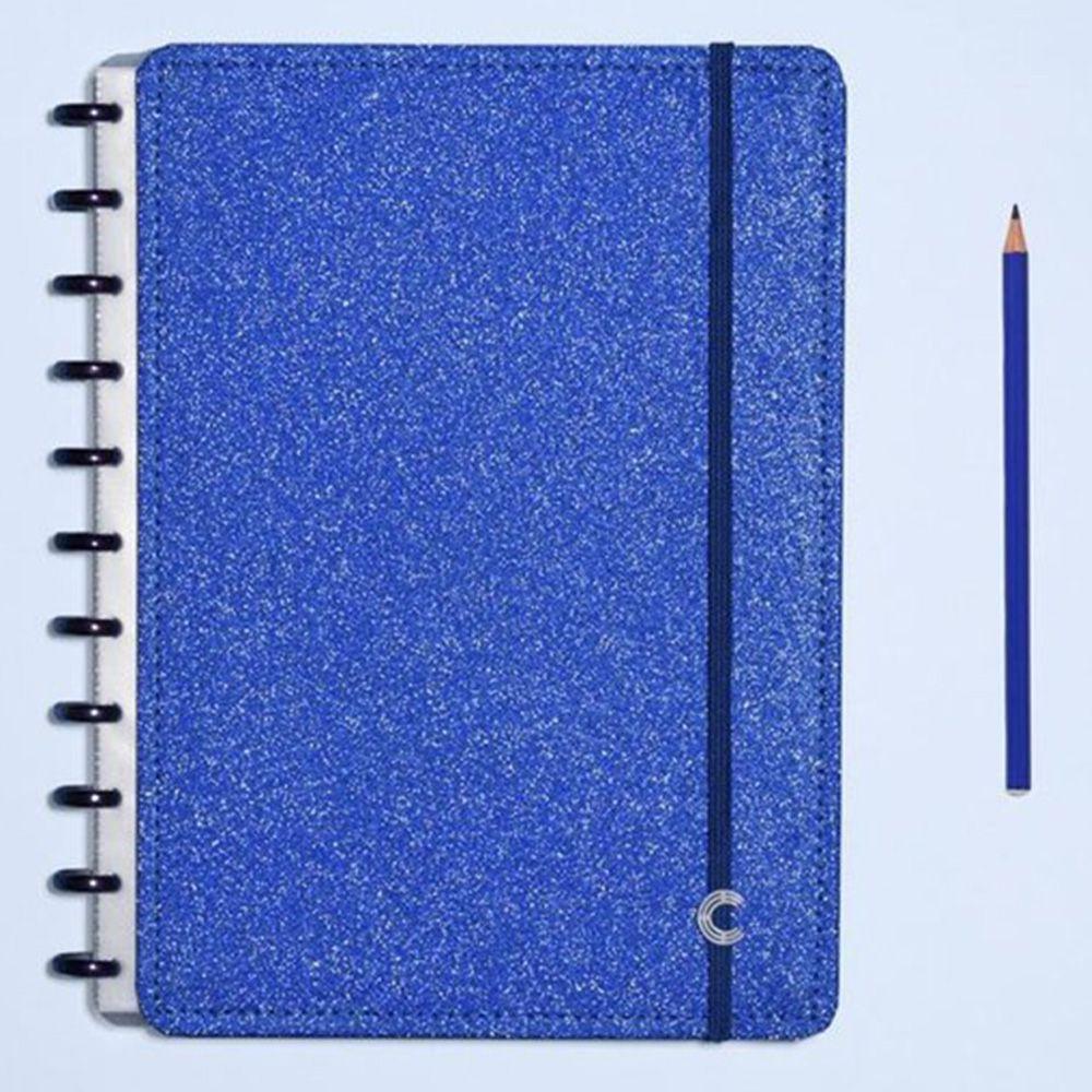 Caderno Inteligente Grande Glitter Blue