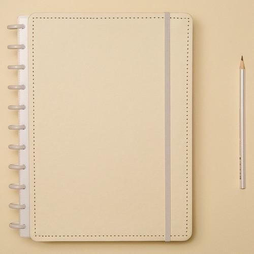 Caderno Inteligente Grande Tons Pastel Amarelo