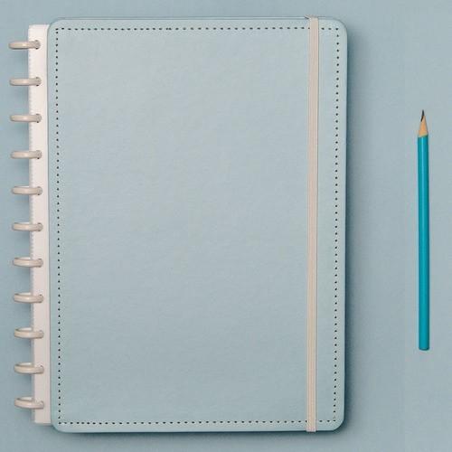 Caderno Inteligente Grande Tons Pastel Azul