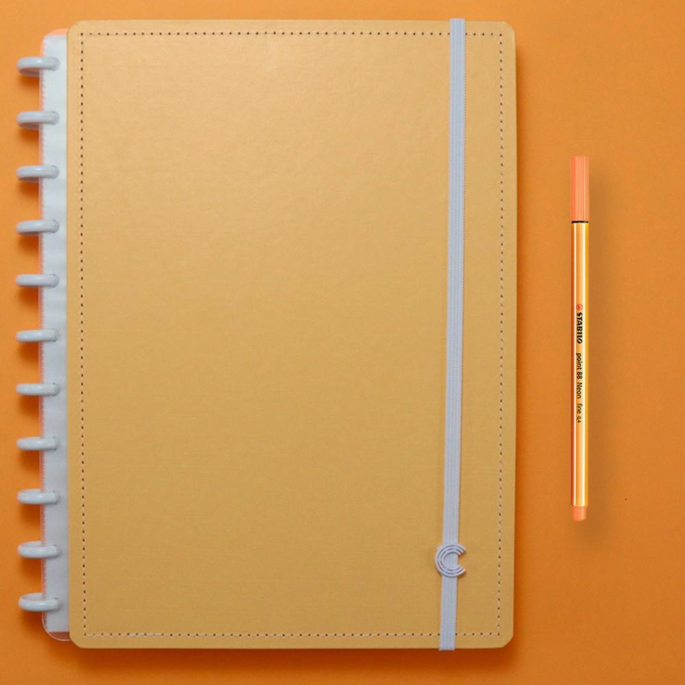 Caderno Inteligente Grande Tons Pastel Laranja
