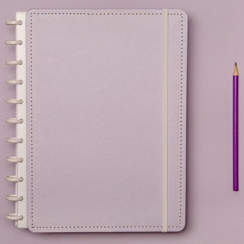 Caderno Inteligente Grande Tons Pastel Lilás