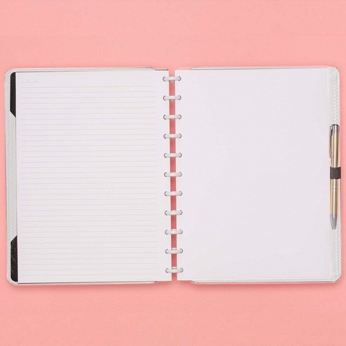 Caderno Inteligente Grande Tons Pastel Rose