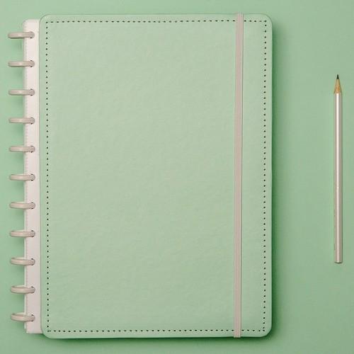 Caderno Inteligente Grande Tons Pastel Verde