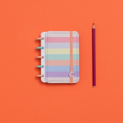 Caderno Inteligente Inteligine Arco-Íris Pastel
