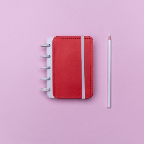 Caderno Inteligente Inteligine Color Vermelho Cereja