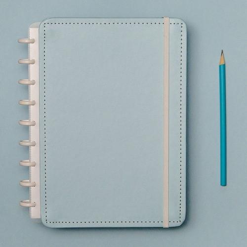 Caderno Inteligente Médio Azul Pastel