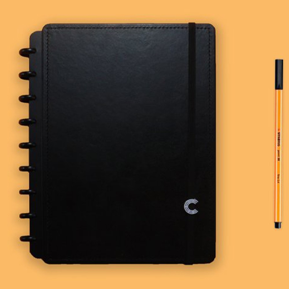 Caderno Inteligente Médio Casual Basic Black