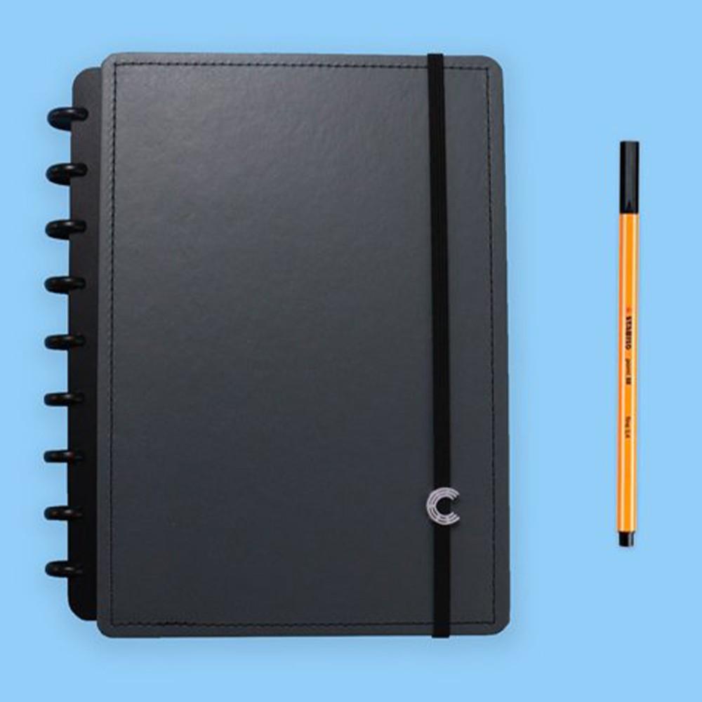 Caderno Inteligente Médio Casual Basic Grey