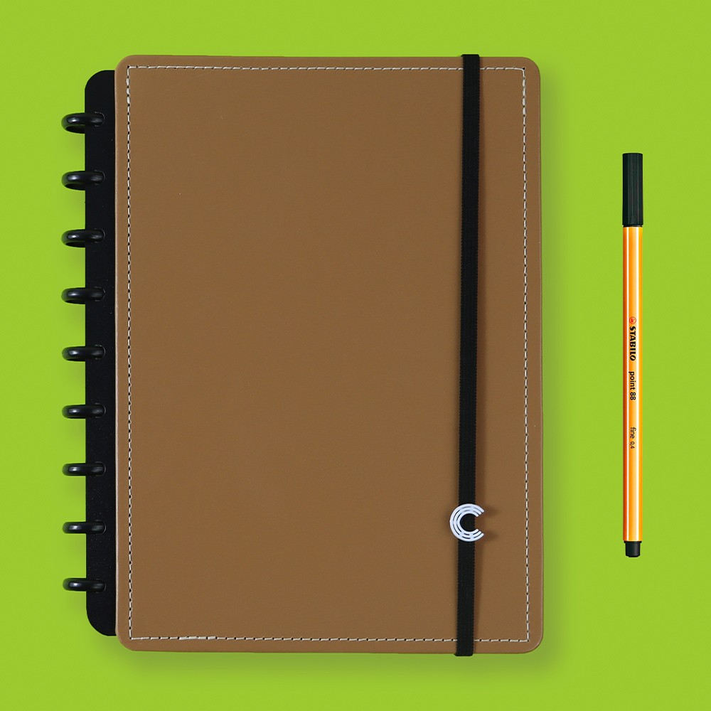 Caderno Inteligente Médio Casual Caramel