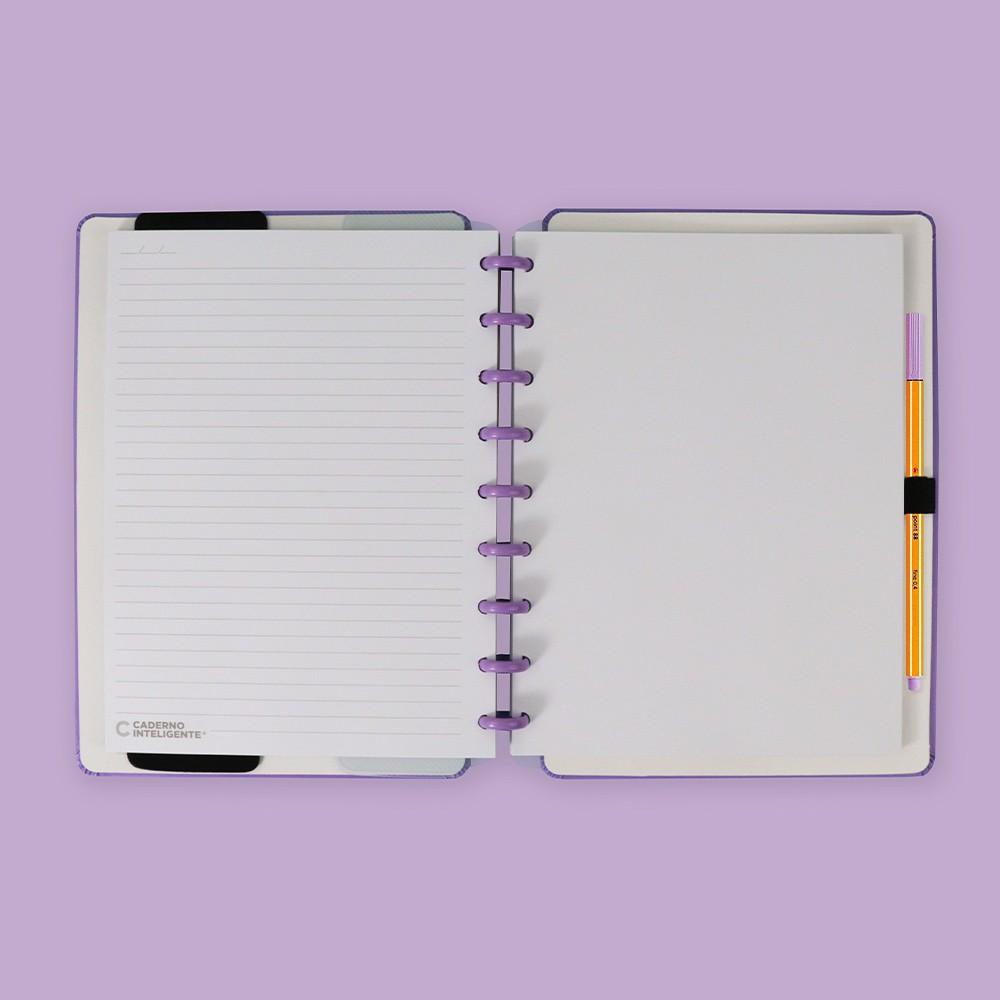 Caderno Inteligente Médio Color All Purple