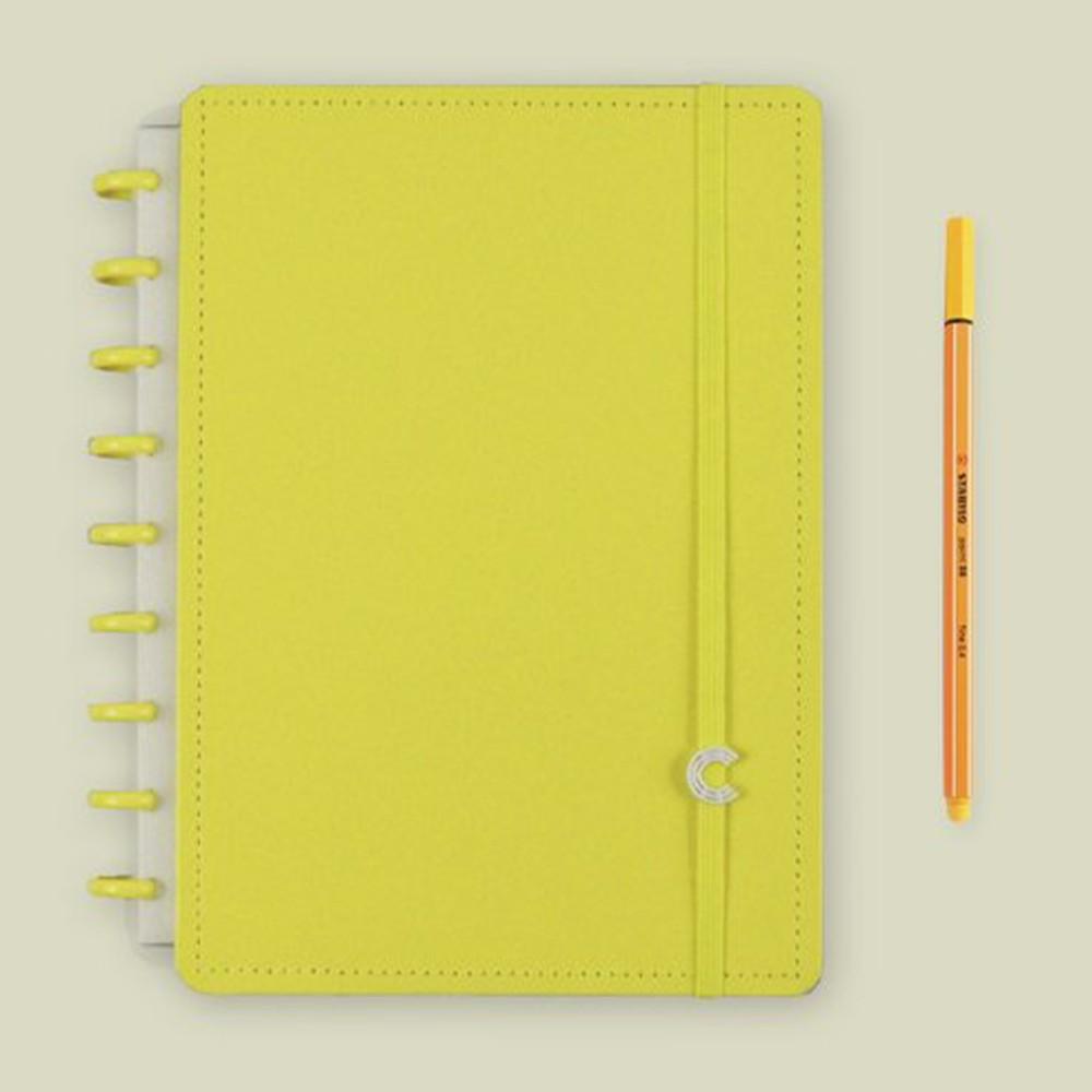 Caderno Inteligente Médio Color All Yellow