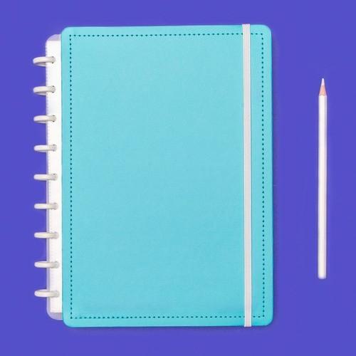 Caderno Inteligente Médio Color Azul Celeste