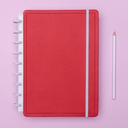 Caderno Inteligente Médio Color Vermelho Cereja